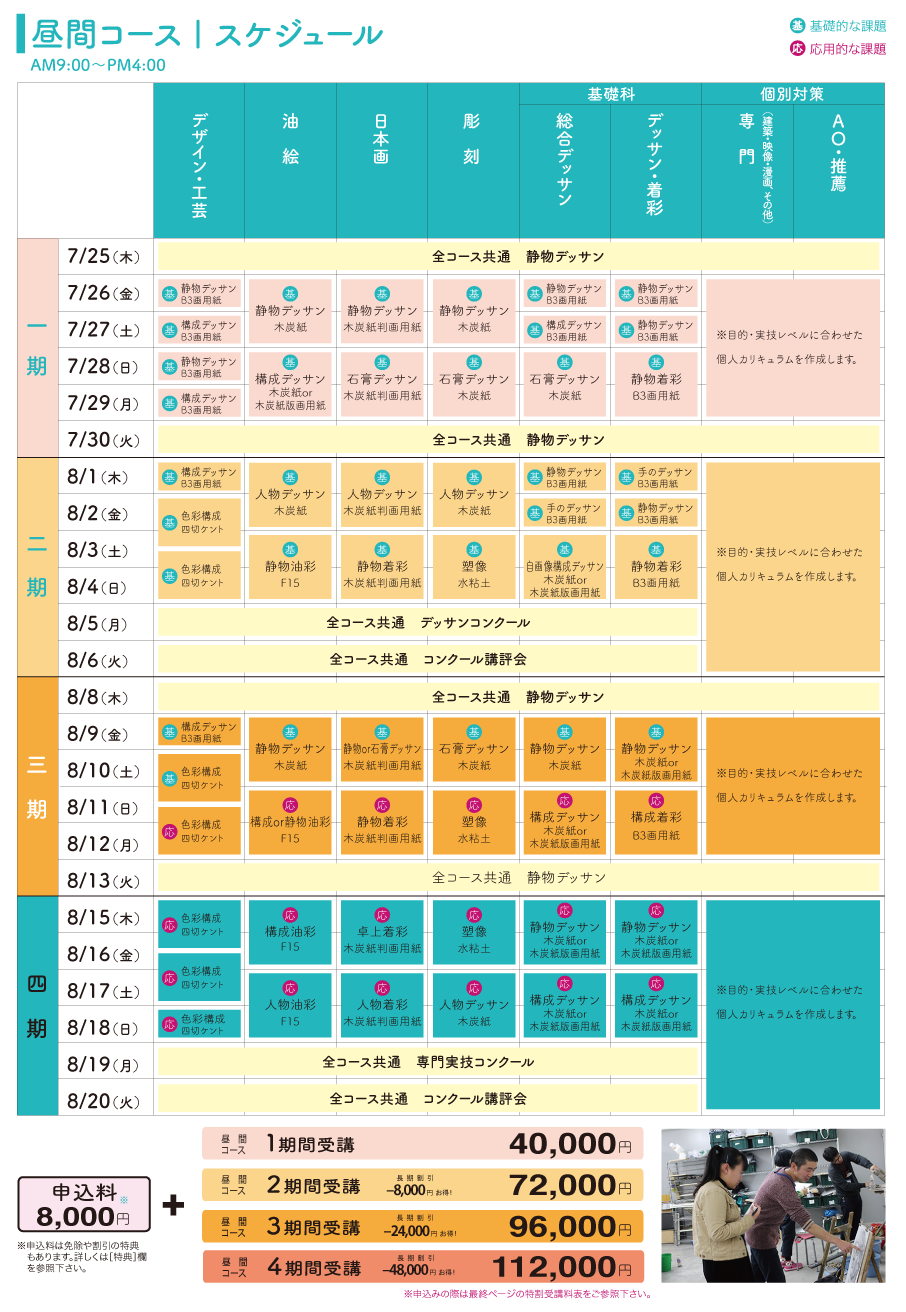 2019年夏期講習会 昼間部